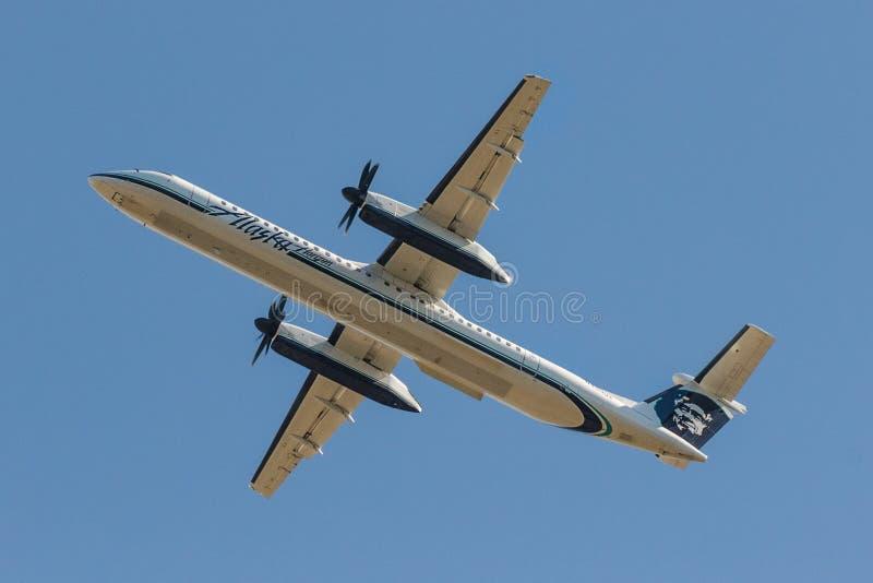 Traço 8 de Alaska Airlines fotos de stock