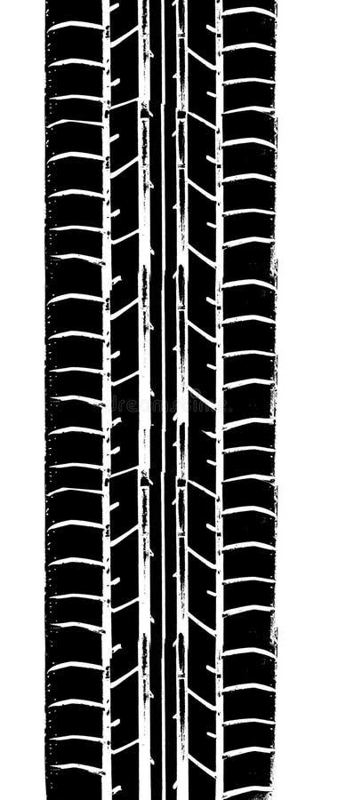 Traço do pneumático ilustração royalty free