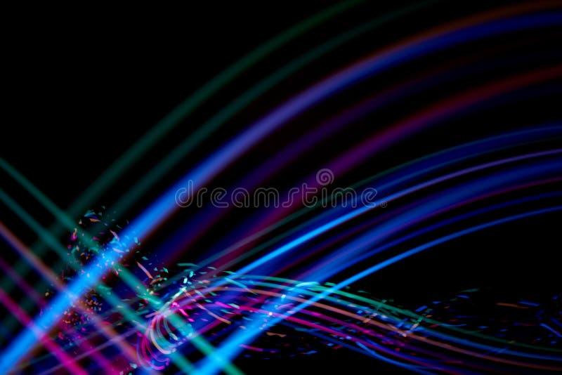 Traços coloridos de luz imagem de stock royalty free