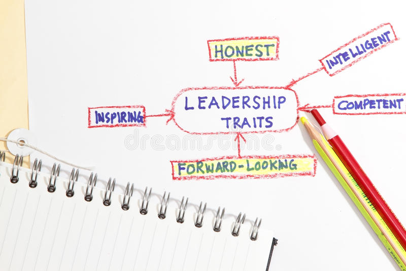 Traços da liderança imagens de stock