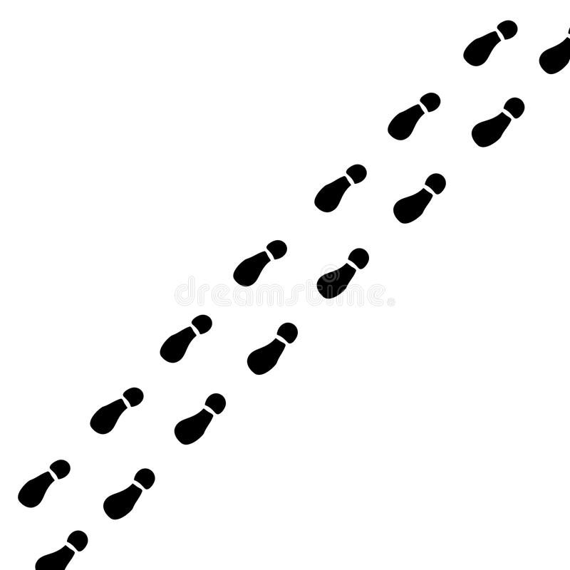 Traços de pés ilustração do vetor