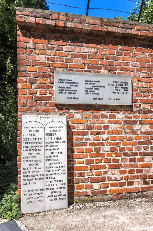 Traços de Polônia judaico - memorial do holocausto imagem de stock