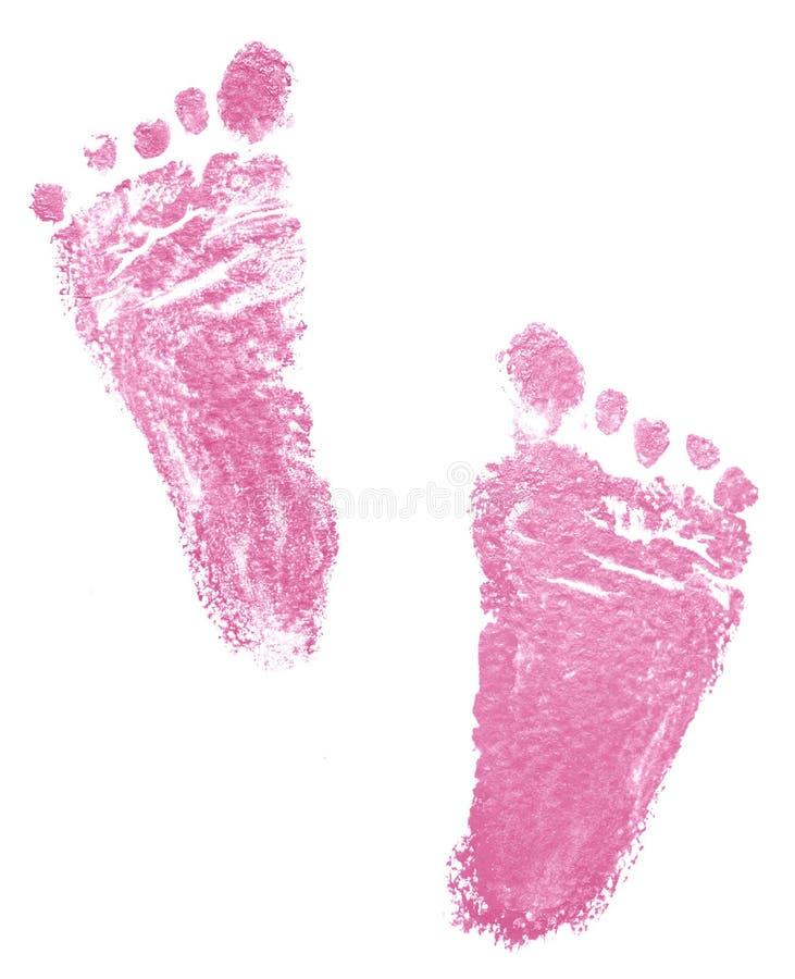 Traços de recém-nascido imagem de stock