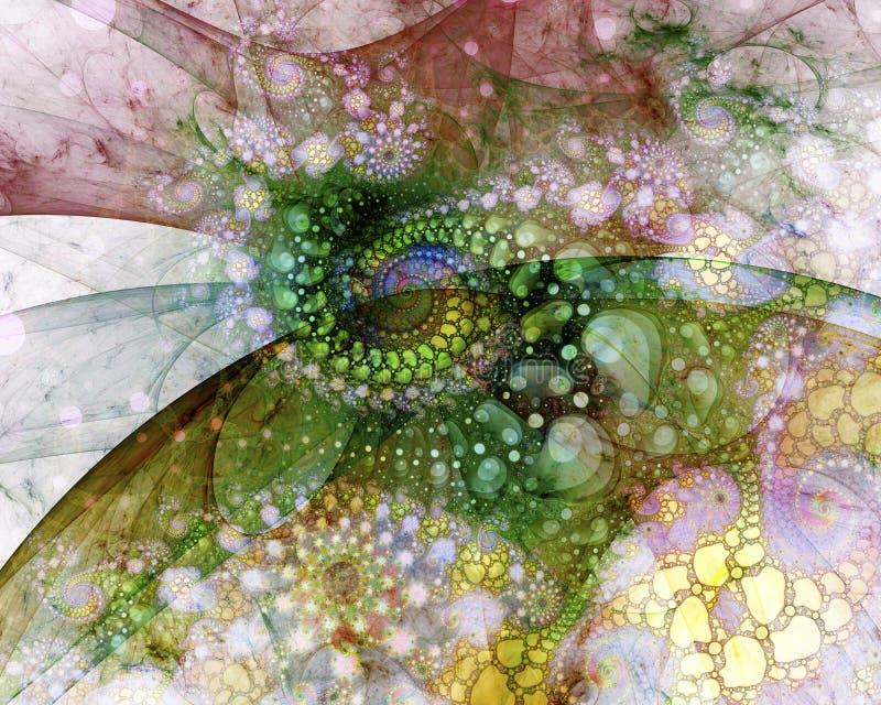 Traînée abstraite des pierres vertes illustration de vecteur