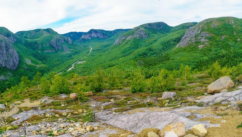 Traînée de Chouenne de La, dans les grands-Jardins parc national, le Québec photo stock