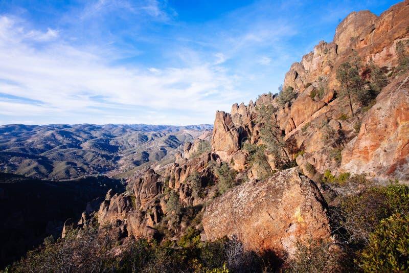 Traînée de crêtes élevées au parc national de sommets image libre de droits