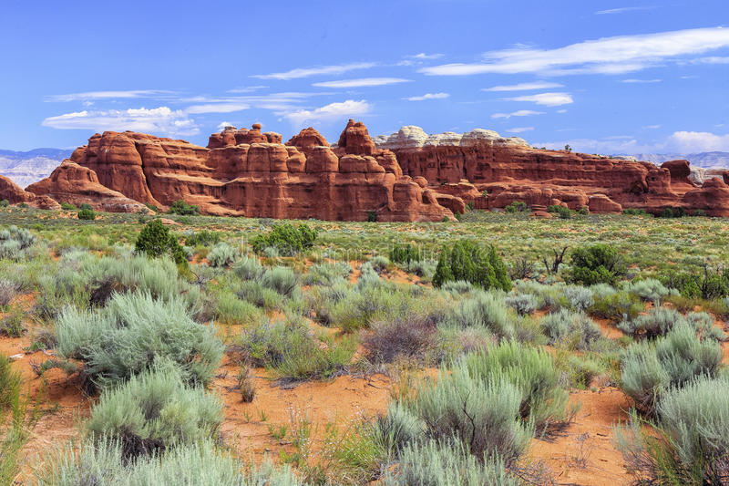 Traînée de jardin de diables, voûtes parc national, Utah photo stock