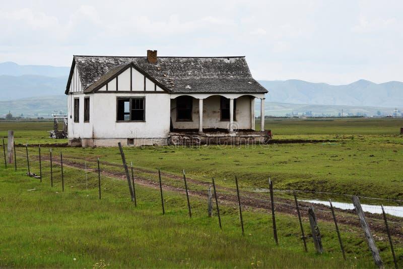 Traînée de l'Orégon, Idaho, ferme abandonnée photos stock
