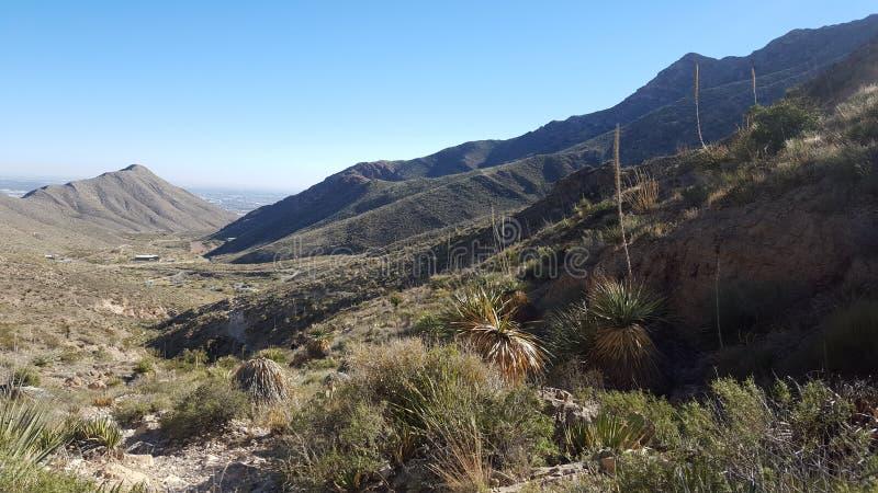 Traînée de montagne de parc d'état du Texas images libres de droits