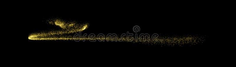 Traînée de particules de scintillement d'or d'étoile brillante illustration libre de droits