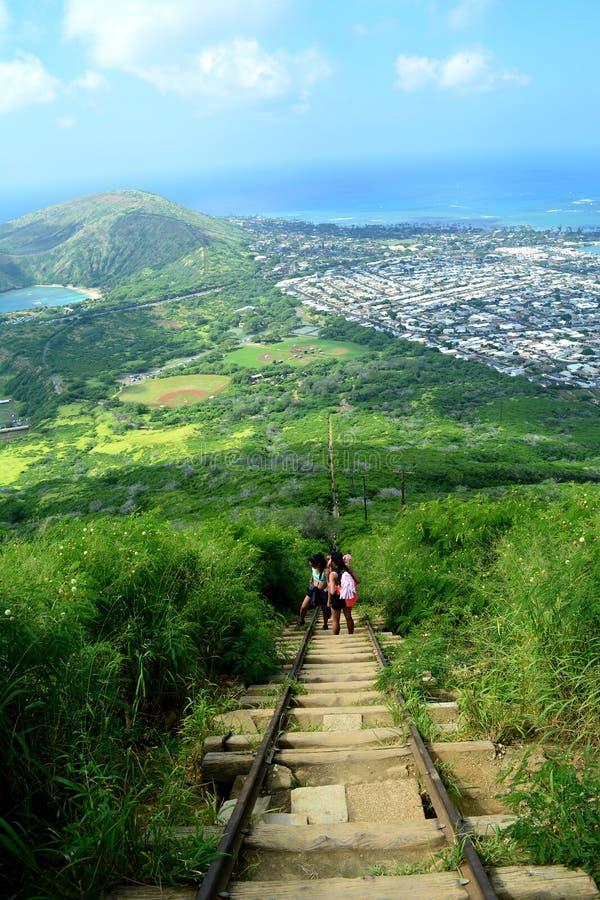Traînée de tête de Koko, Hawaï image libre de droits