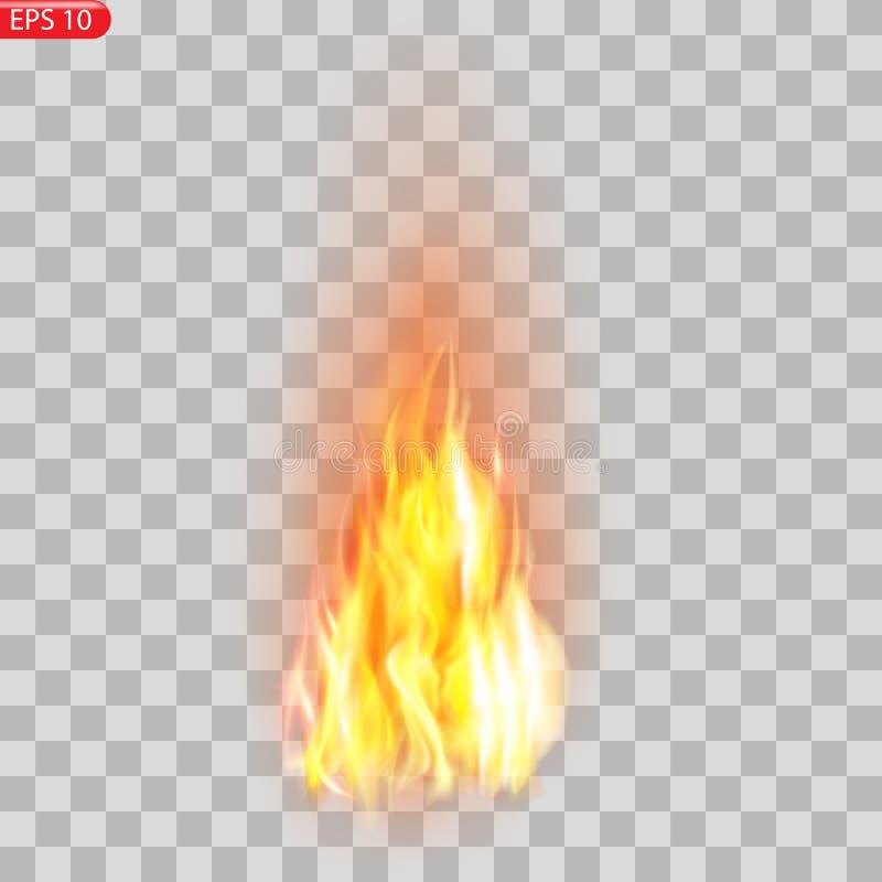 Traînée du feu Effet spécial d'éléments translucides brûlants de flammes Le feu brûlant réaliste flambe l'effet de vecteur illustration de vecteur