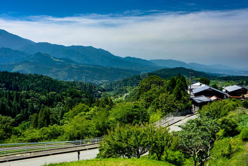 Traînée Japon de Tsumago Magone photo libre de droits