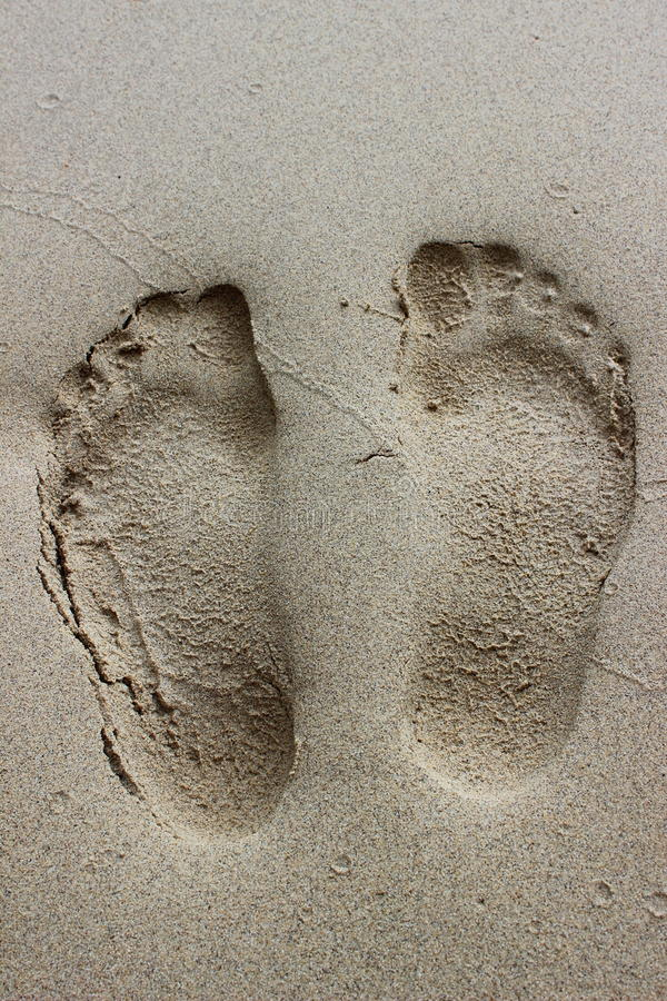 Traînée sur la plage photographie stock libre de droits