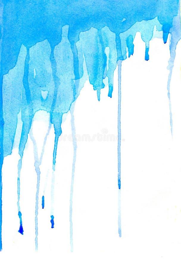 Traînées bleues illustration de vecteur