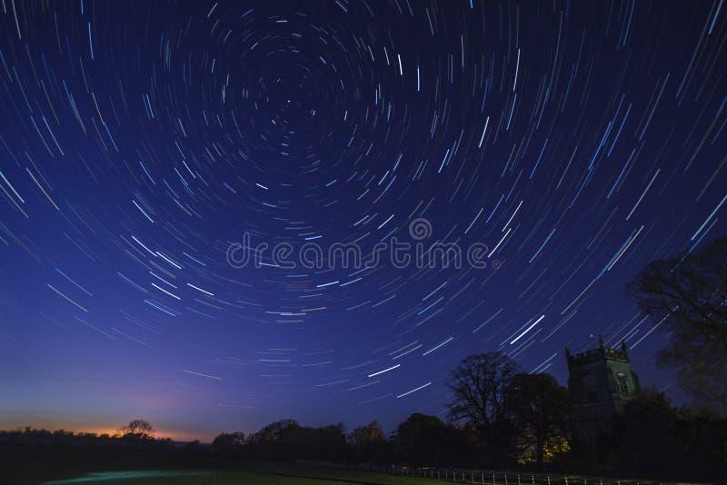 Traînées d'étoile - astronomie image libre de droits