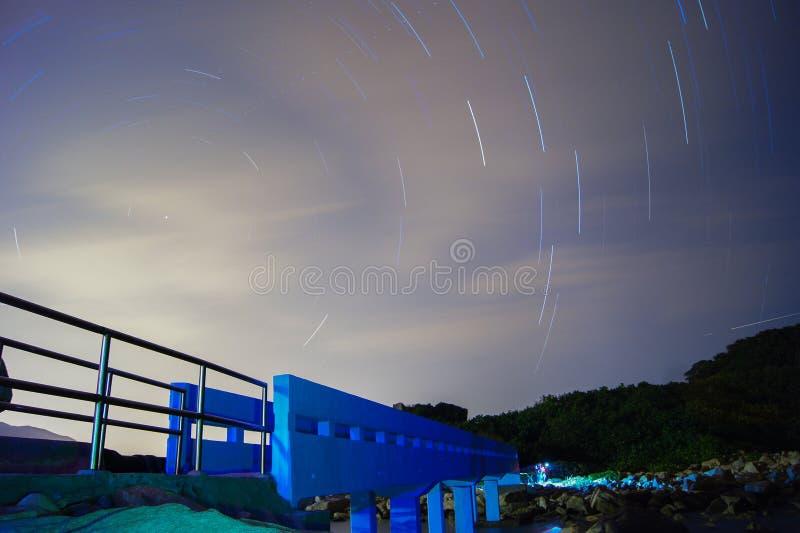 Traînées d'étoile dans Stanley photos stock