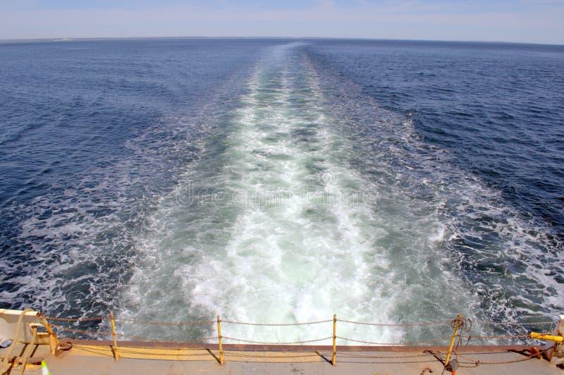 Traînées de ferry-boat photos libres de droits