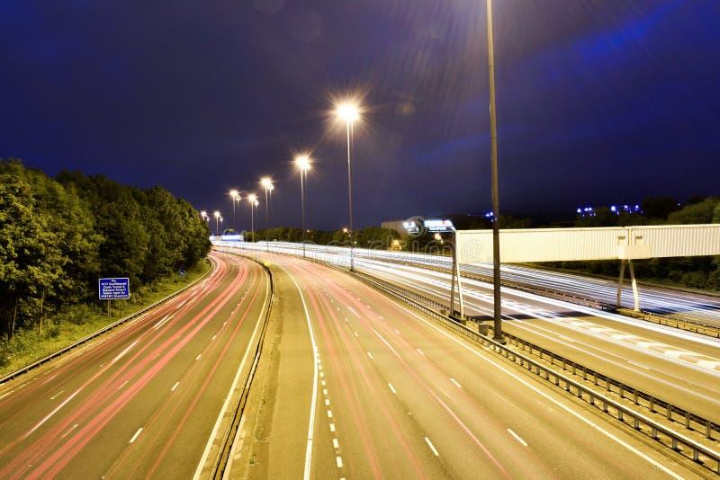 Traînées de lumière de Glasgow photographie stock libre de droits