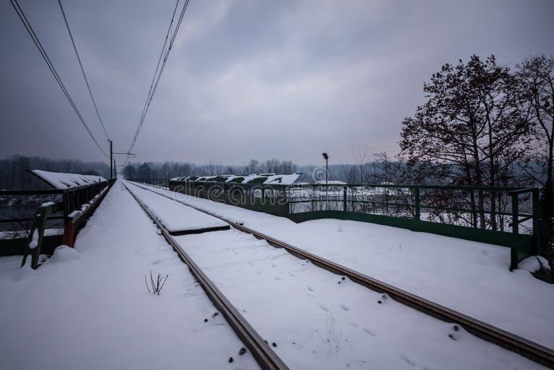 Traînées de rail photo stock