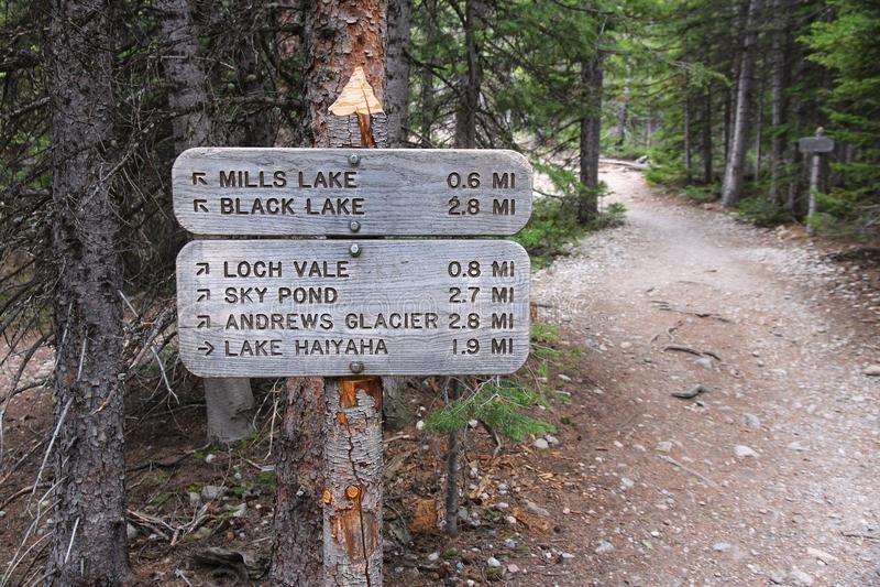 Traînées en Rocky Mountains image libre de droits