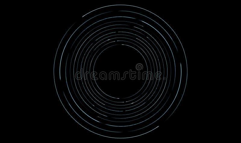 Traînées orbitales de lumière photographie stock libre de droits