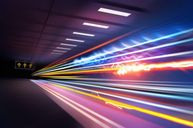 Traînées superbes de lumière image libre de droits