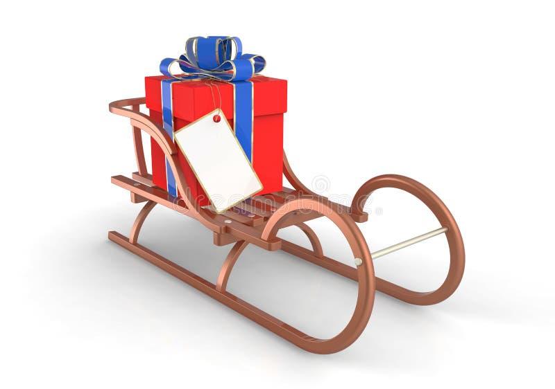 Traîneau de Noël illustration de vecteur