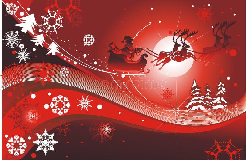Traîneau de Santa illustration stock