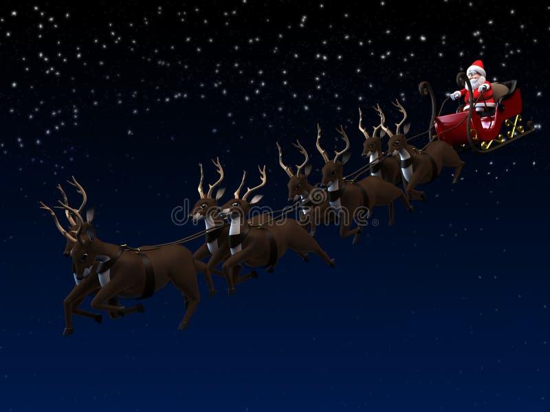 traîneau de Santa illustration de vecteur