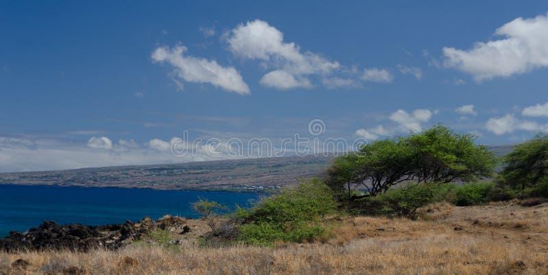 Traînez à la ligne de côte entre Waialea et Hapuna photographie stock