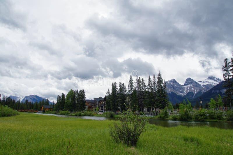 Traînez en parc dans Canmore, Alberta, Canada photo stock