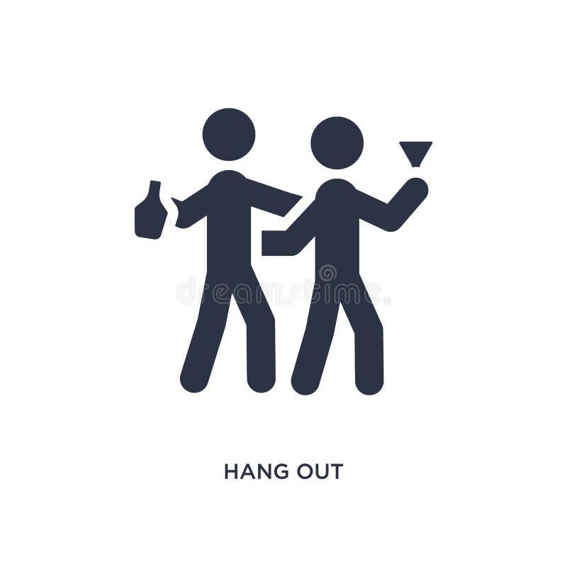 traînez l'icône sur le fond blanc Illustration simple d'élément de concept d'activités illustration stock