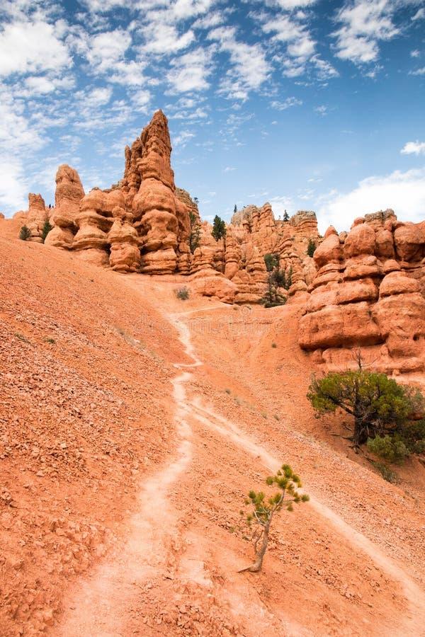 Traînez la vue du canyon rouge de roche, Nevada/roche rouge photographie stock libre de droits