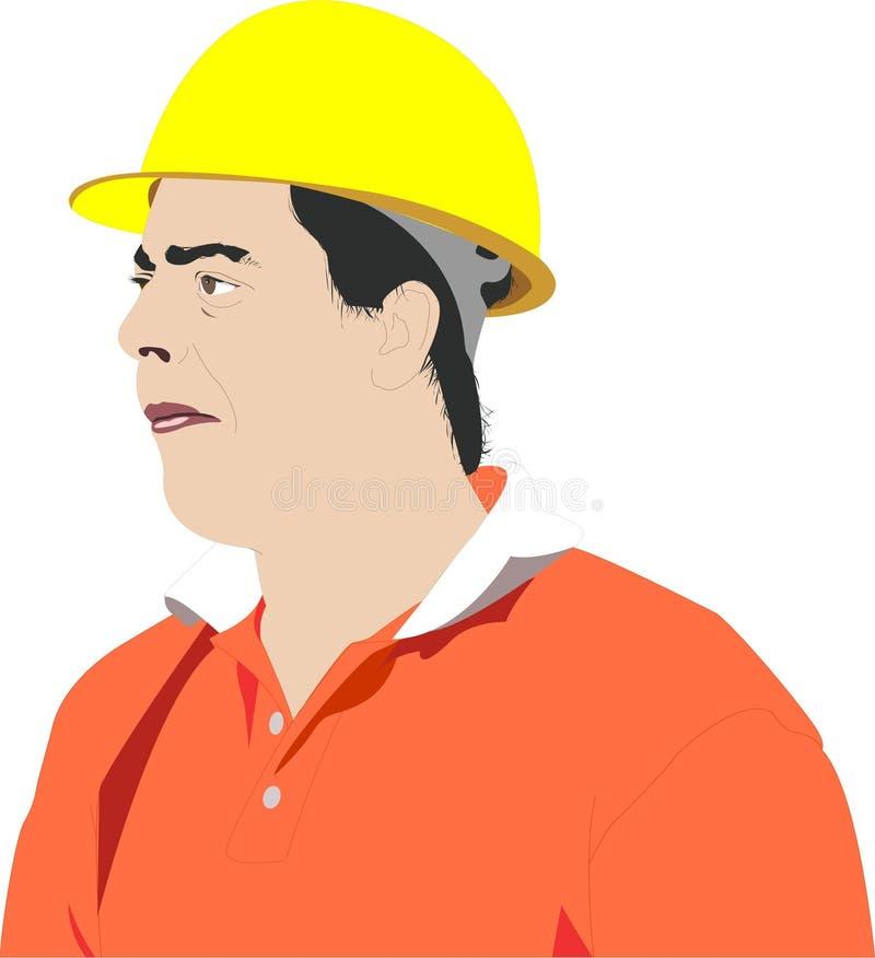 Trabajador stock de ilustración