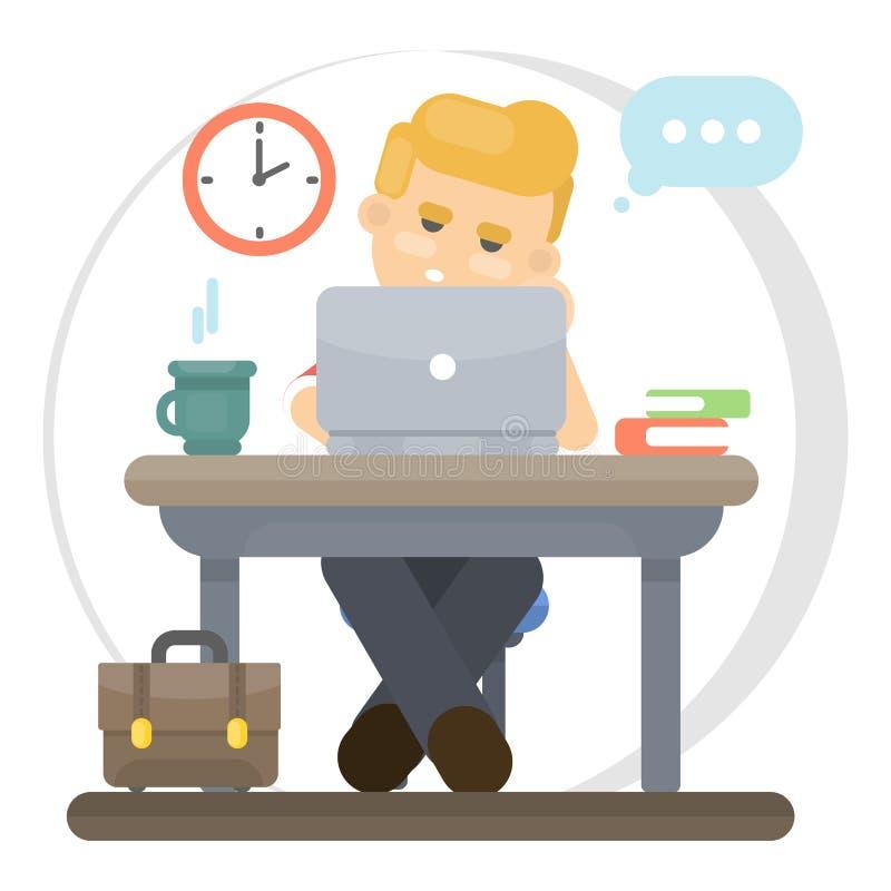 Trabajador aburrido libre illustration