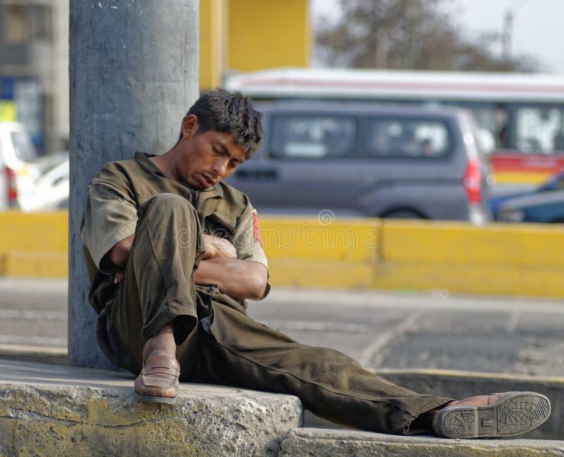 Trabajador cansado imagen de archivo