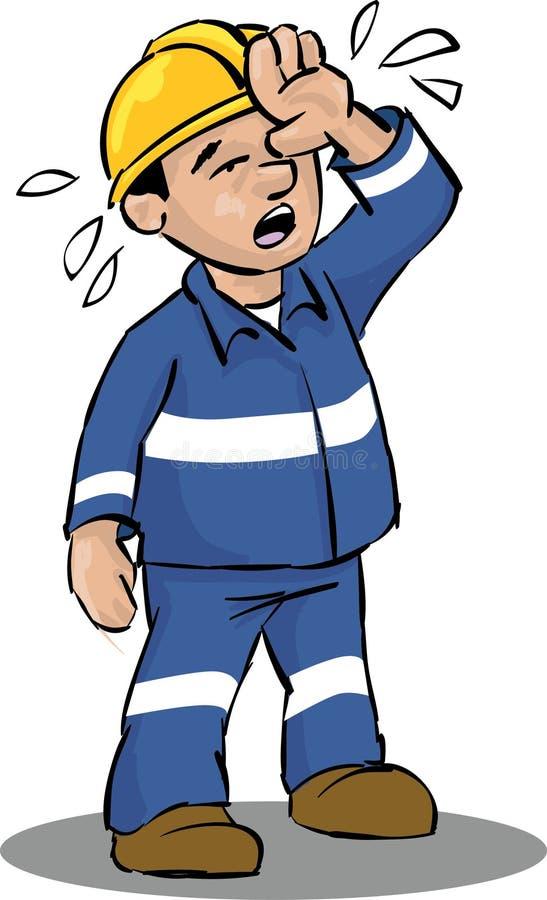 Trabajador cansado libre illustration