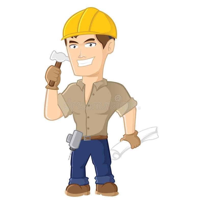 Trabajador de construcción stock de ilustración
