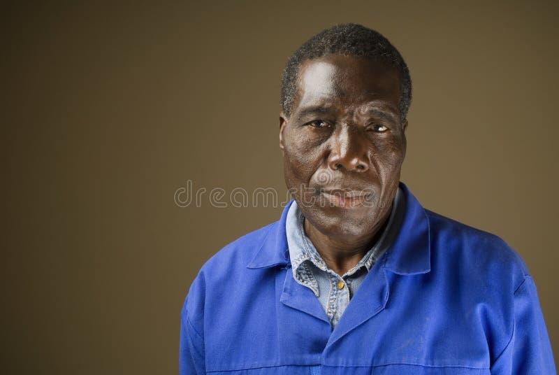 Trabajador de construcción africano fotografía de archivo libre de regalías