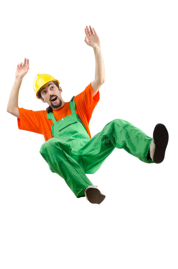 Trabajador de construcción aislado imagen de archivo libre de regalías