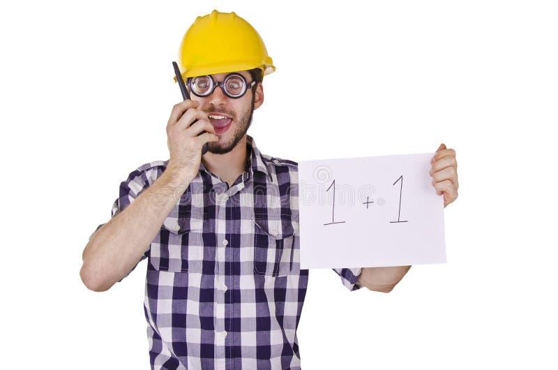Trabajador de construcción chistoso fotografía de archivo libre de regalías