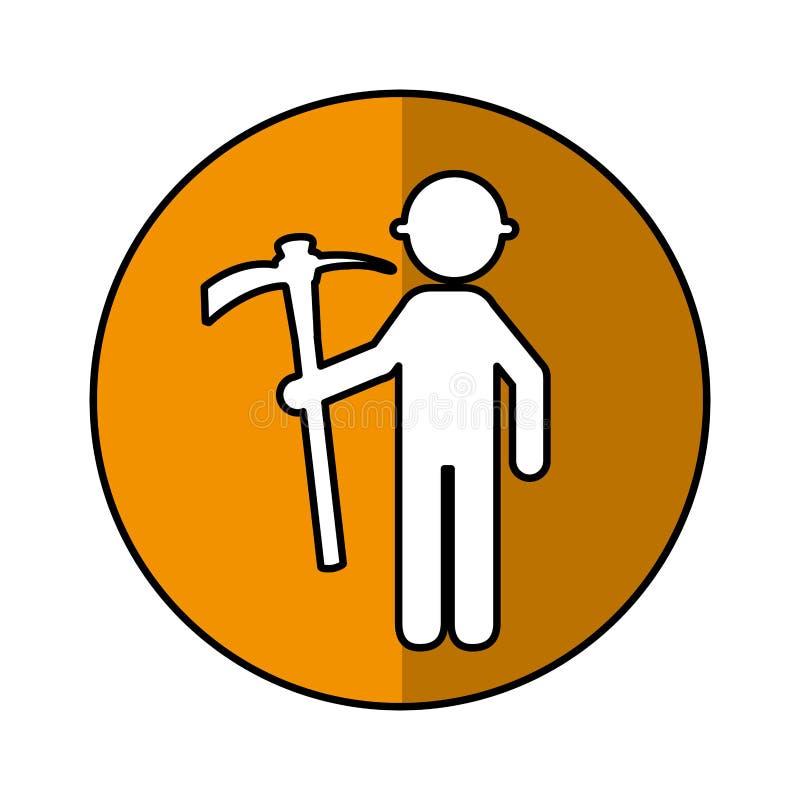 Trabajador de construcción con el avatar de la selección stock de ilustración