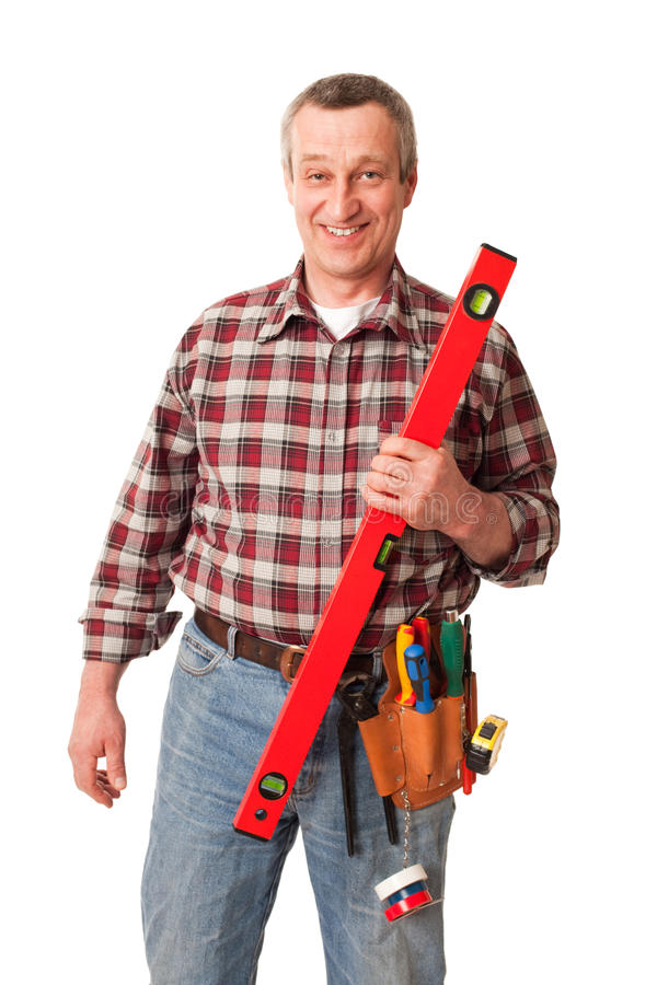 Trabajador de construcción de sexo masculino fotos de archivo
