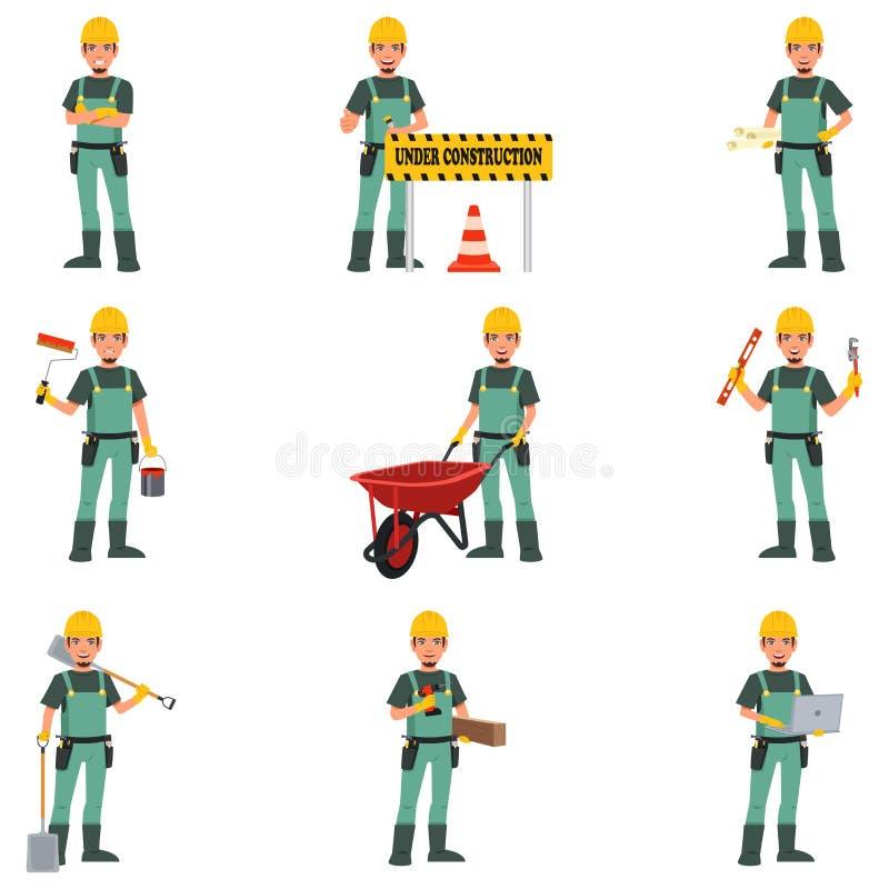 Trabajador de construcción Doing Work libre illustration