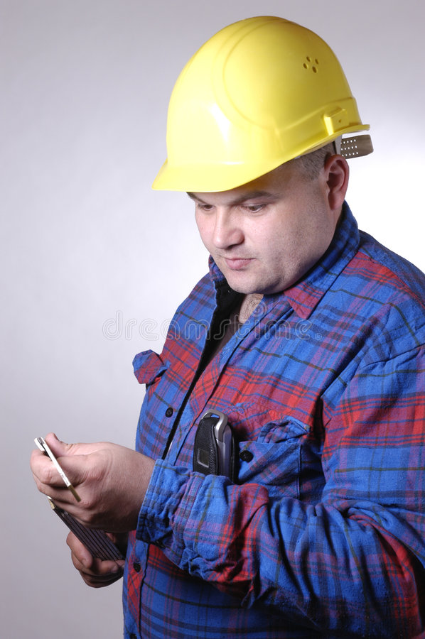 Trabajador de construcción II foto de archivo libre de regalías
