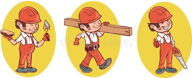 Trabajador de construcción industrial stock de ilustración