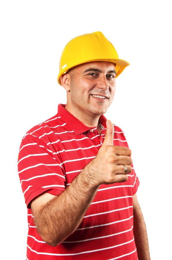 Trabajador de construcción joven imagen de archivo