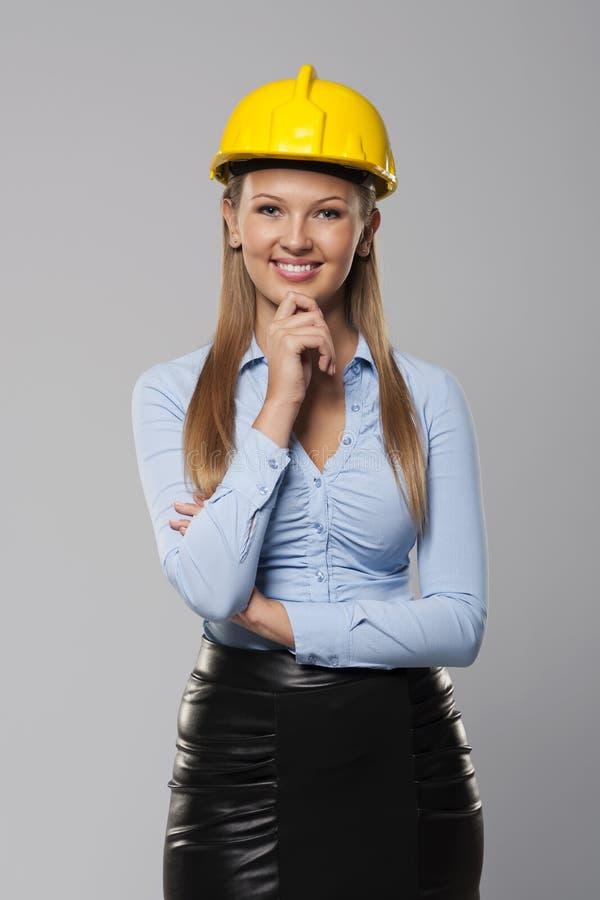 Trabajador de construcción joven foto de archivo libre de regalías