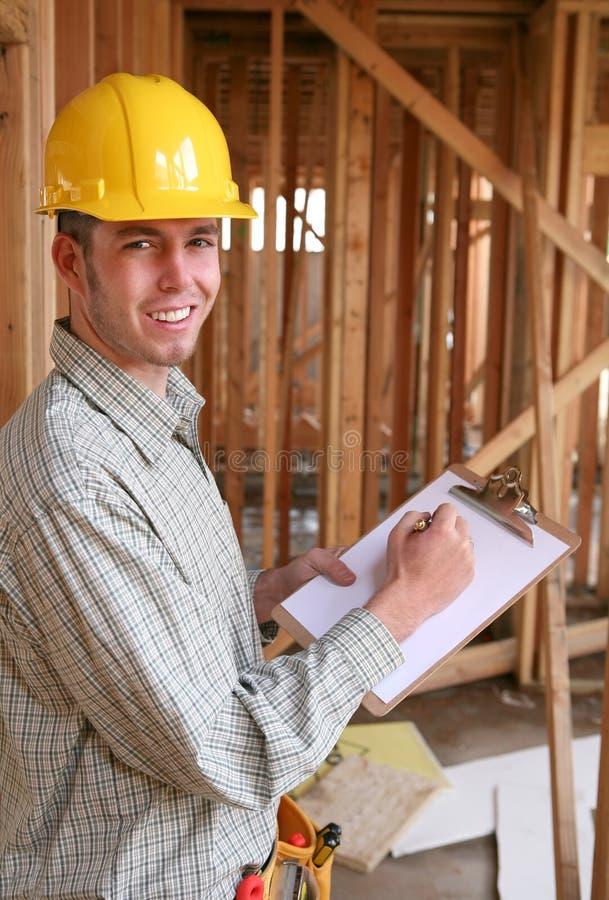Trabajador de Contruction imagen de archivo libre de regalías